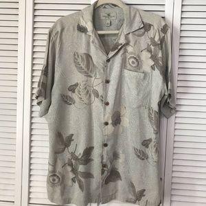 Vintage Island Shores Washable Silk Shirt